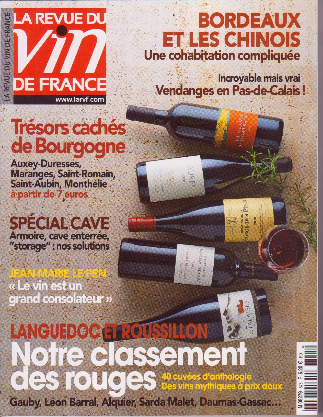 La Revue du vin de France d'octobre 2013