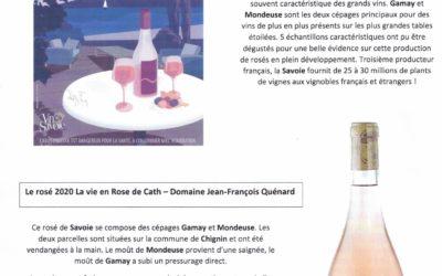 Savoir oser… le vin de Savoie Rosé